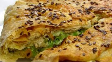 Лёгкий Пирог из лаваша с кабачками