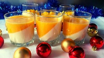 Фруктовый десерт на Новый год   Новогодние десерты  Мандариновый десерт