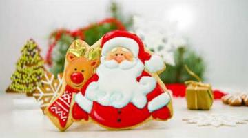 Как сделать имбирный пряник Дед мороз с оленем Роспись  новогоднего пряника айсингом для начинающих
