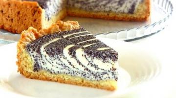 """Красивый простой пирог """"НЕЖНОСТЬ"""" / Творожный с маком"""