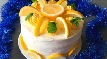 Лимонный торт ?? Праздничный торт ? Торт с лимоном | Лимонный бисквит