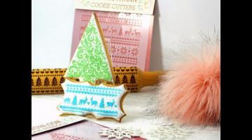Новогодние пряники / простой декор с помощью трафаретов