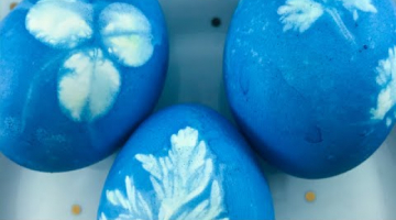 Пасхальные идеи - простой декор, красим яйца с рисунком
