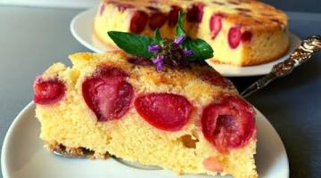 Пирог с Вишней ??Пирог с Ягодами на Скорую Руку //Cherry Cake