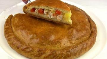 Пирог на кефире Мясной с тыквой / Вкусно и по-домашнему