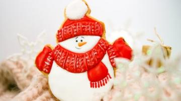 Простая техника декора имбирных пряников ДЛЯ НАЧИНАЮЩИХ / Вязание, снежок на новогодних пряниках