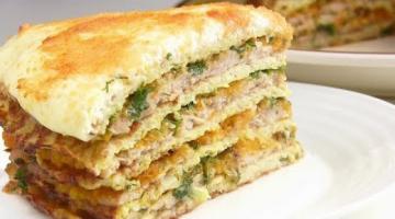 ПРОСТОЙ Капустный торт/ Торт с капустой и мясом в духовке