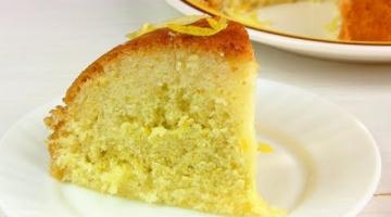 Пирог лимонный в мультиварке