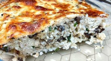 Рисовая Запеканка с Грибами / Лёгкий Обед и Ужин на Скорую Руку