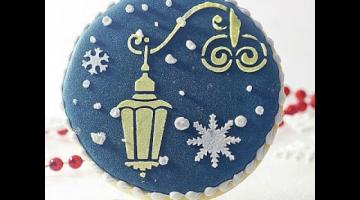 Рождественские и новогодние зимние пряники/ айсинг-глазурь