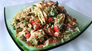 Салат из фасоли и крабовых палочек!