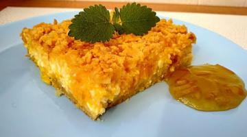 Тертый пирог с творогом и апельсином! Рецепт творожника с джемом!