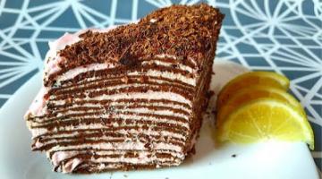 Торт из Шоколадных Блинчиков с Розовым Кремом! Рецепт на День Влюбленных!