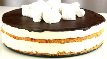 """Торт """"Птичье молоко"""" из белков"""