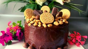 Торт Сникерс ? Торт Сникерс с Арахисом и Карамелью  ? Как приготовить Торт Сникерс