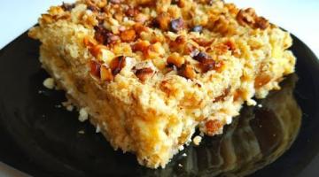 Творожный торт с яблоками и орехами! Записывайте рецепт!