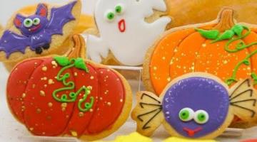 Урок пряники к Хэллоуину для новичков (тесто, айсинг/глазурь)