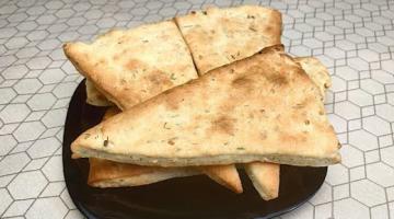 Вместо Хлеба Лепешки на Сметане / Пикантные с Чесноком и Зеленью / Съедаются в Один Миг