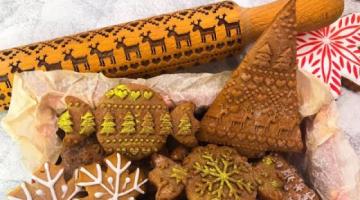 Все СЕКРЕТЫ: пряники с новогодним узором с помощью скалок. Делаем ПРОСТЫЕ пряники с рисунком