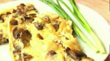Яичница с грибами-простые рецепты на каждый день